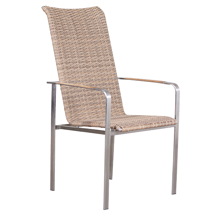 Lute Hochlehner Diningsessel spotted brown